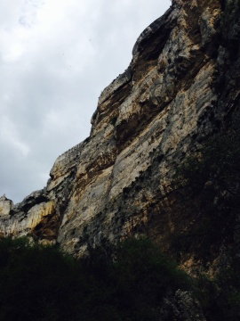 The cliffs above Fontaine de Vaucluse