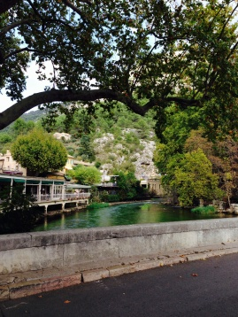 Near the start of the Sorgue