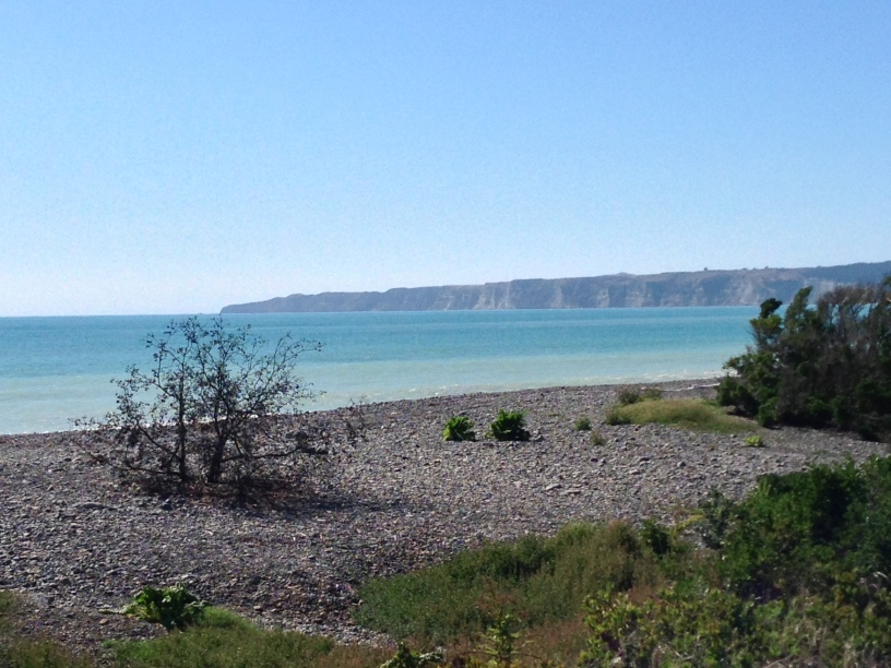 Cape Kidnappers viewed from a distance